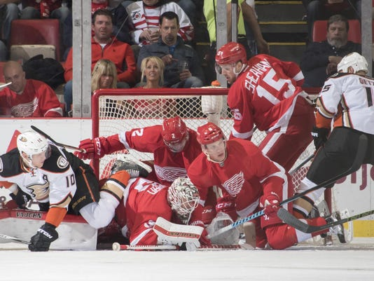 Photos are of the Detroit Red Wings vs. the Montreal Canadiens at Joe Louis Arena, in Detroit, January 10, 2016. (David Guralnick / The Detroit News)