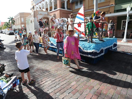 Thousands of people attended the Edison Festival of Light Junior Parade on Sunday in downtown Fort Myers. The annual event featured floats, dancers, local high school bands, and city officials.