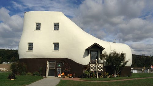 The Haines Shoe House has been a prominent part of the York County landscape since 1948.