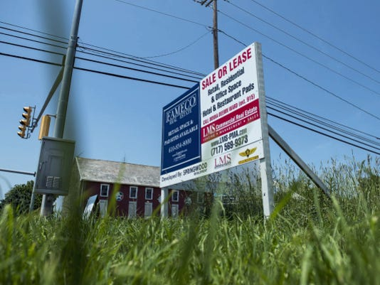 A sign near the Cornwall and Rocherty roads intersection advertises spaces available for the Springwood Development in North Cornwall Township.