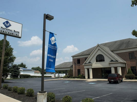 First National Bank of Fredericksburg's main branch in the village of Fredericksburg is seen on Wednesday.