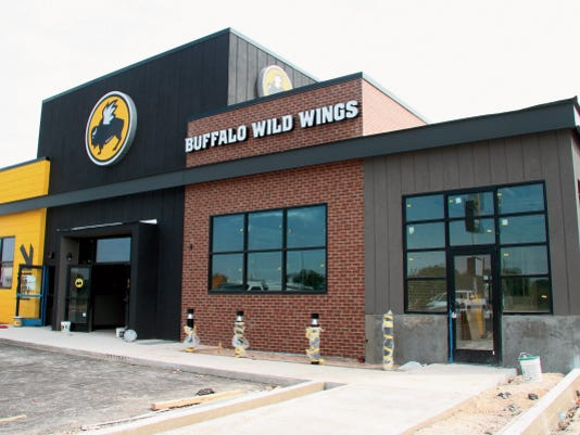 MADDY HAYDEN - CURRENT-ARGUS   Buffalo Wild Wings is almost done with construction, but is not expected to open until October 19.