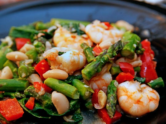 This Mediterranean-type recipe for Shrimp with White Beans uses items that Vicki Brown regularly stocks.
