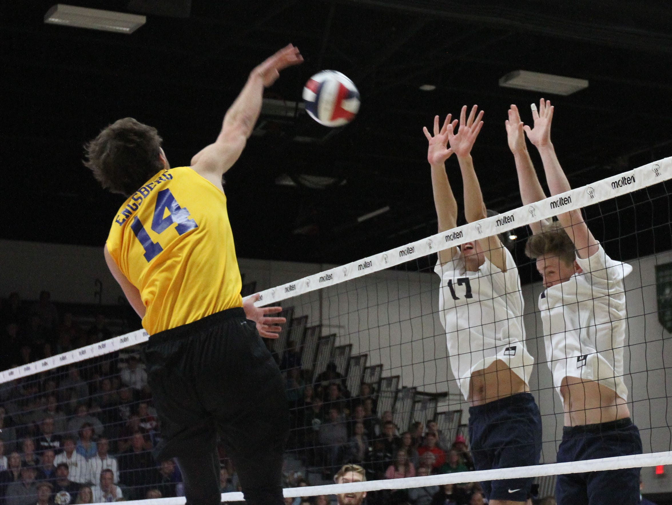 Catholic Memorial's Zach Engsberg gets over the Marquette