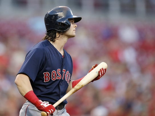 Cincinnati native Boston Red Sox left fielder Andrew