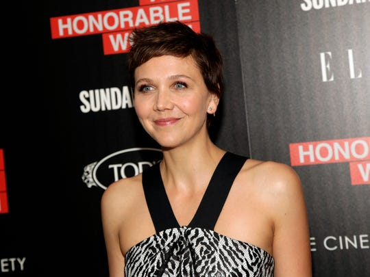 "Actress Maggie Gyllenhaal attends a screening of ""The Honorable Woman"" on Wednesday, July 23, 2014, in New York."