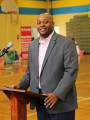 Dr. Eric Jones, Superintendent of Jackson-Madison County Schools, spoke about the importance of leadership to the youth in attendance during the 21st annual Youth Symposium hosted by Sigma Gamma Rho Sorority on March 10 at North Side High School in Jackson.