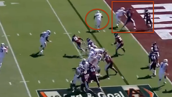 Auburn's first touchdown Saturday is a case of rolling
