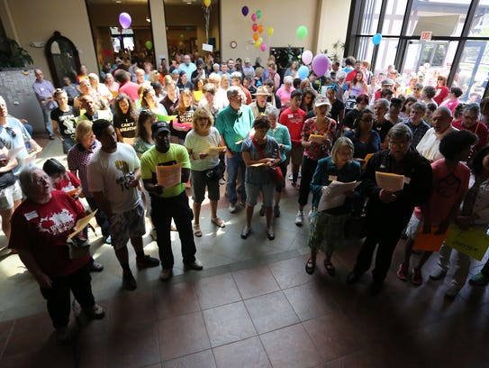 The Black Lives Matter march started at First Unitarian