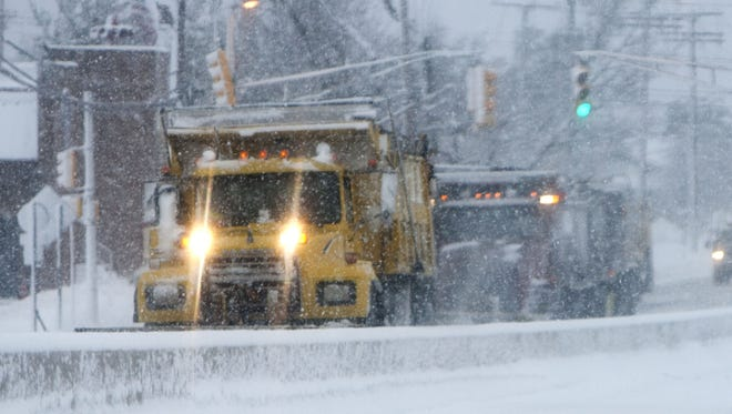 Wintry weather moved into the region Saturday afternoon, bringing snow and freezing rain.