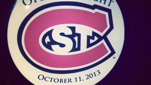 SCSU hockey puck
