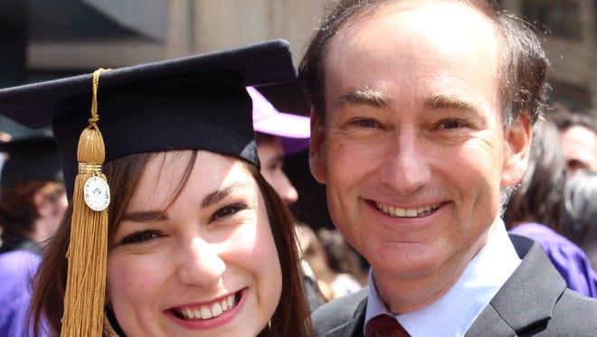 Chris Bohjalian and his daughter Grace Experience at her graduation.