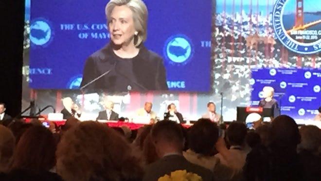 Hillary Clinton in San Francisco.