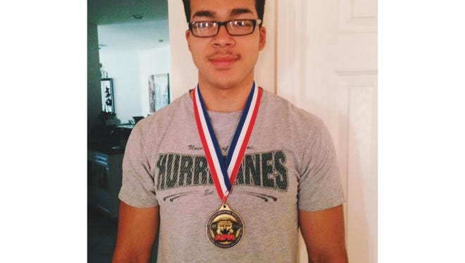 Lehigh Senior High student Jafej Faya took home first place in the 16-17 year-old age group at the American Powerlifting Association Florida State Championships over the weekend in Largo.
