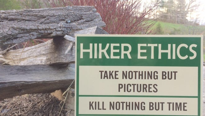 Signs paid for by Madison County's Tourism Development Authority will be placed on public trails in Madison County to encourage hikers to follow ethics advanced by the Appalachian Trail Society.