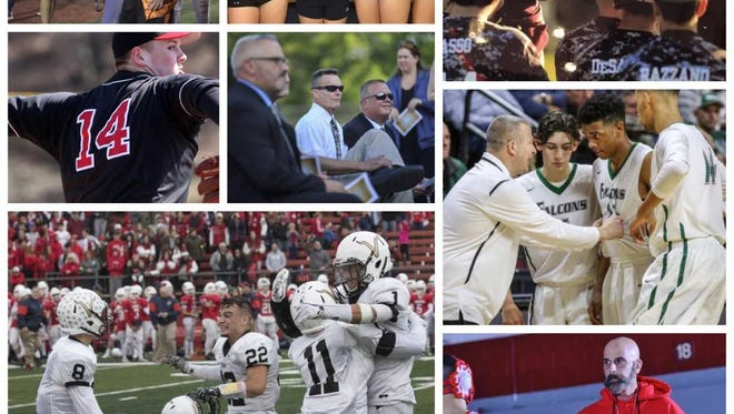 Collage of some of the personalities featured among the most read GMC sports stories of 2017