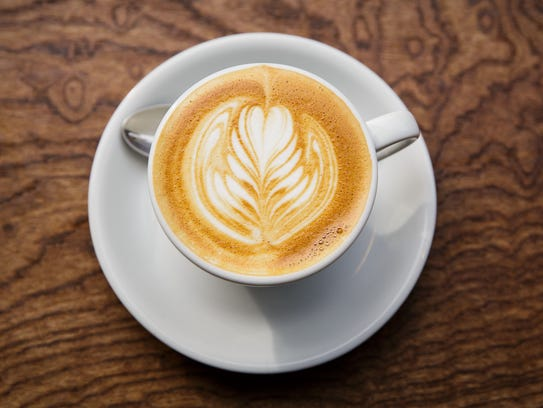 A warm drink, such as a cafe latte, can help build