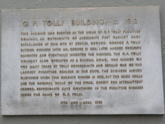 Built in 1910, the G.F. Tolly Building, used as a furniture