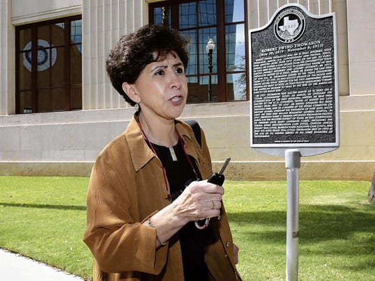 """Rosemary Castillo, Chairwoman of the El Paso Children´s Hospital Board of Directors tells members of the media """"it's not over till its over,"""" as she left the Federal Bankruptcy Court Tuesday afternoon."""