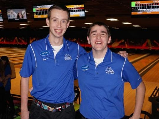 Co-captains for Salem's varsity boys bowling team are