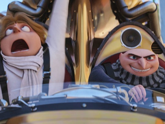 "Steve Carell voices Gru and twin Dru in ""Despicable"