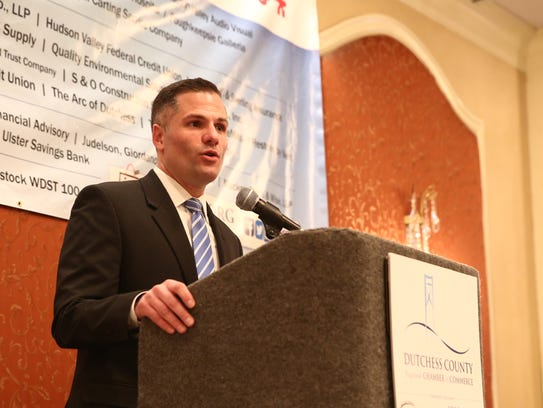 Dutchess County Executive Marc Molinaro speaks during