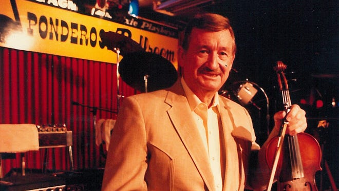 L.C. Agnew, photographed in May 1989 at the Ponderosa Ballroom, which he opened in 1975 and operated until 1993.