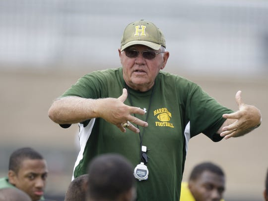 Farmington Hills Harrison coach John Herrington