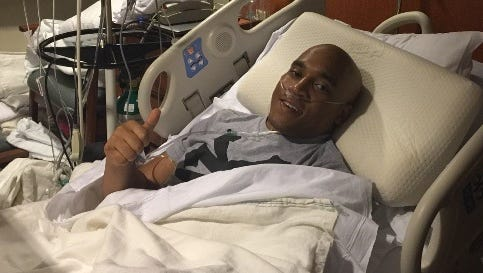 Former Canton High School football player Josh Nolen has maintained a positive attitude during his battle with renal medullary carcinoma.
