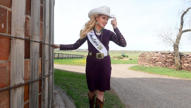 Miss Rodeo Montana Lindsay Garpestad tips her hat. Garpestad holds a gala Friday to raise money for travel and other expenses during her reign.
