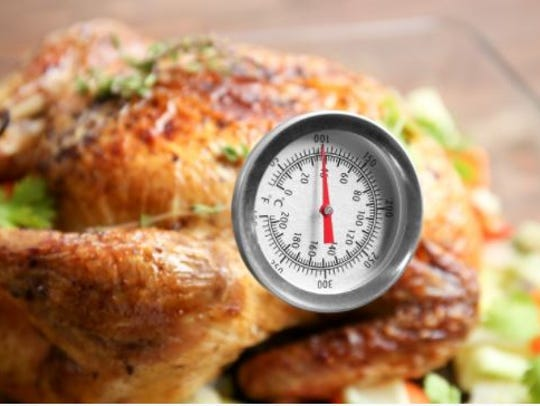 A food thermometer is the only way to know if a turkey