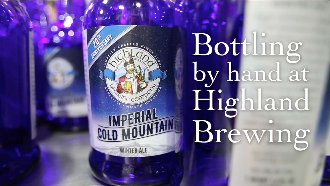 How the assembly line at Highland Brewing Company bottled its 20th anniversary liter bottles of Imperial Cold Mountain winter ale.