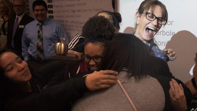 Vanessa Lynch, an english teacher at Harns Marsh Middle School was named a Golden Apple winner.
