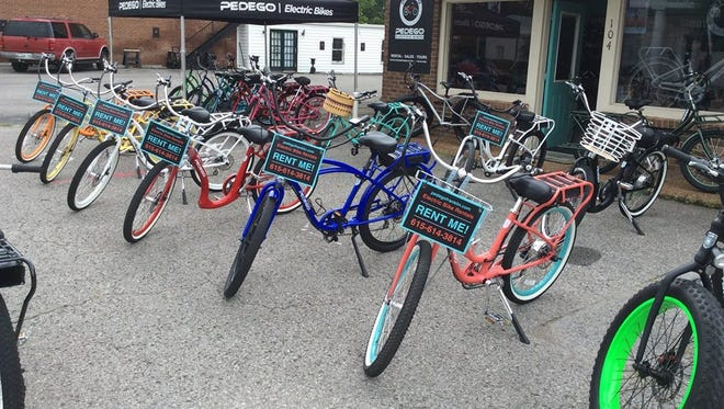 Kem and Bob Harris are the owners of Pedego Franklin Electric Bikes in Franklin.