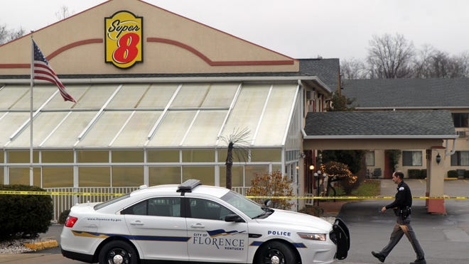 A Super 8 in Florence is cordoned off last week after a teen was shot and killed in a gunfight with police.