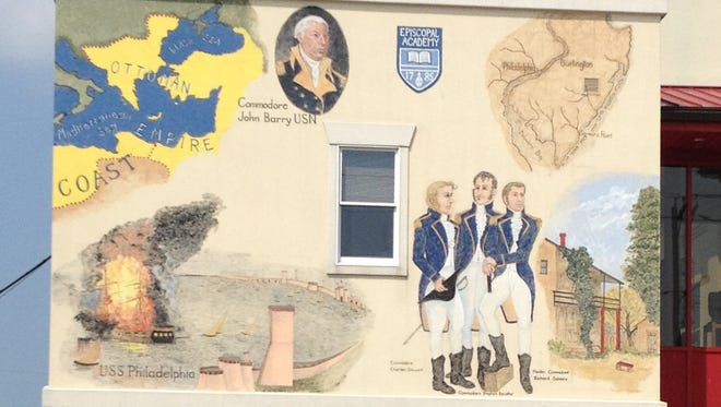 The front section of the mural in Somers Point painted by Millville artist Maryann Cannon.