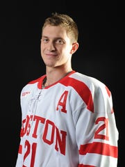 Boston University senior Matt Lane has posted career highs in goals, assists and points this season.