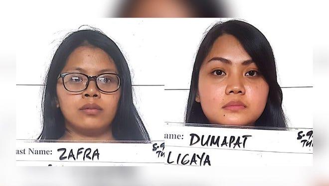 Jasmin Rose Zafra and Ligaya Fredeluces Dumapat
