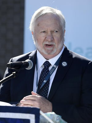 AU President Dr. Brooks Keel speaks during the opening the new AU Health facility in Augusta, Ga., Wednesday morning November 4, 2020.