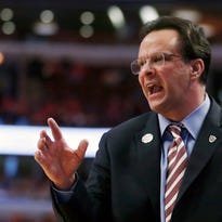 Indiana men's basketball coach Tom Crean directs his team in a game against Northwestern on March 12 in Chicago.