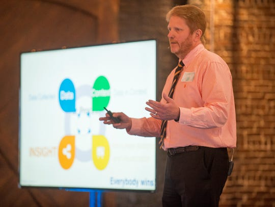 Bruce Ramshaw presents his startup company CQ Insights