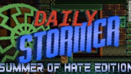 The Daily Stormer website, which promotes neo-Nazi material, was dropped by the GoDaddy and Google servers.