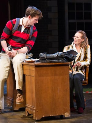 """David Patterson and Dee Pelletier star in """"Third"""" at Hangar Theatre."""
