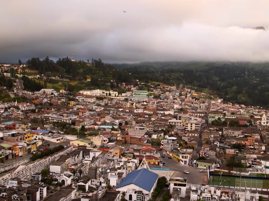 The city of Guaranda, Ecuador, the capital of the mountainous Bolivar Province.