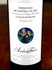 Verdicchio Dei Castelli Di Jesi from the Marche has bright citrus acidity and minerality but manages to be balanced with medium body.