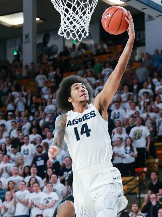 NCAA Basketball: San Diego State at Utah State