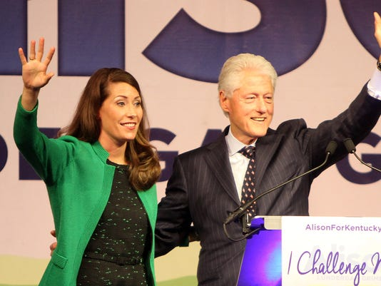 bill clinton and alison grimes