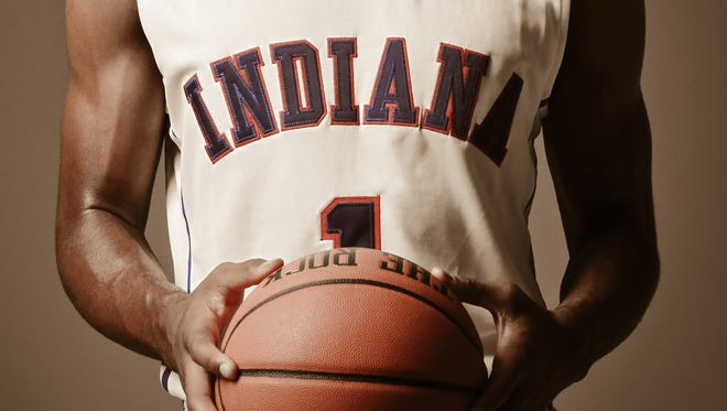 The #1 jersey of Indiana Mr. Basketball