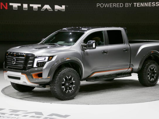 Nissan reveals the Titan Warrior concept Jan. 12, 2016.