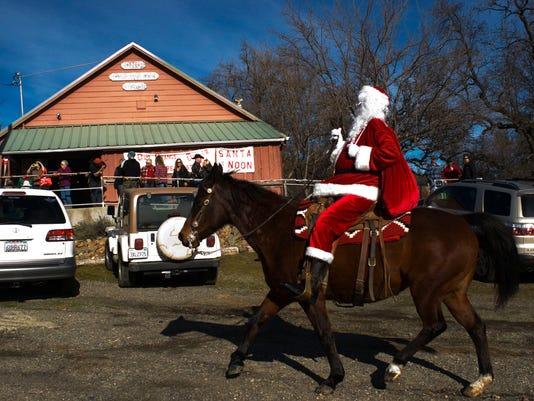 Santa visits the Ono Grange
